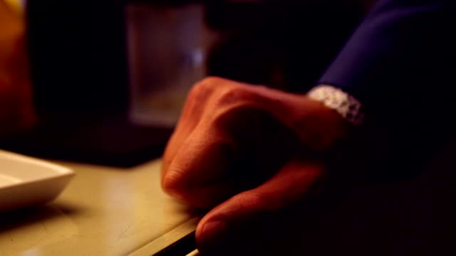 close up of hand from businessman video