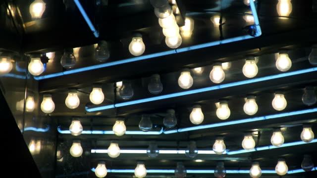 Close Up of Las Vegas Lights video
