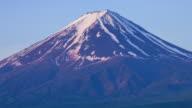Close up of Mount Fuji video