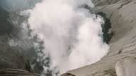 Close up of Mt.Bromo Volcano, Indonesia. Zoom out camera video
