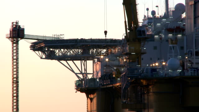 Close Up Of Oil Rig video