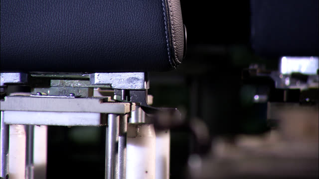 Close up of production line video