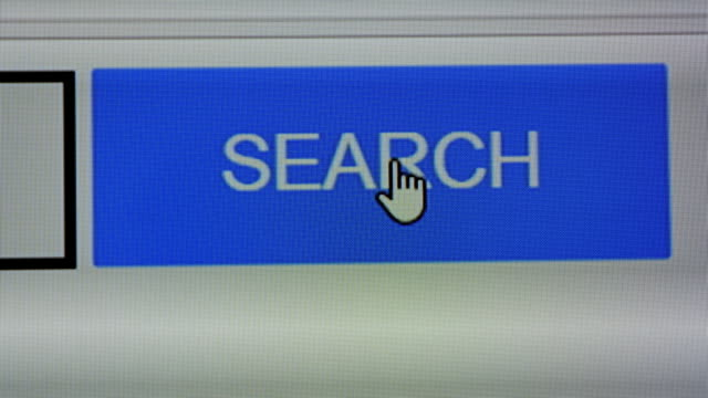Close up of Search button on screen video
