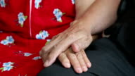Close up of Senior Couple Holding Hands video