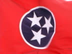 Close up of Tennessee State Flag in a Strong Wind video