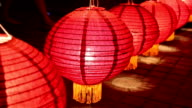 Close up of Thai lanterns in lanterns Festival,Chiang Mai,Thailand video