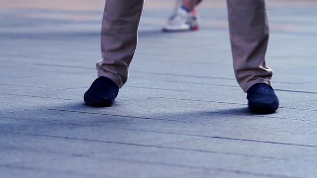 Close up of the feet in dancing video