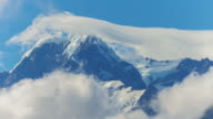 Close up of the summit mt cook in New Zealand video