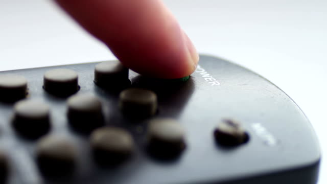 Close up Of TV Remote video