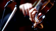 Close up of Violin cello players : HD VDO video