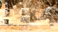 Close up on Chain Saw of Fury video