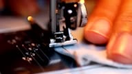 close up sewing machine's component video