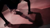 Close up shot of Afro-american busy doing pushups video