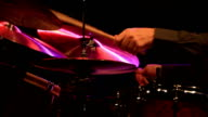 close up shot of musician playing drums video