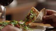 Close Up Shot Slicing Pizza 4K slow motion video