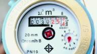 Close up shot water meter video