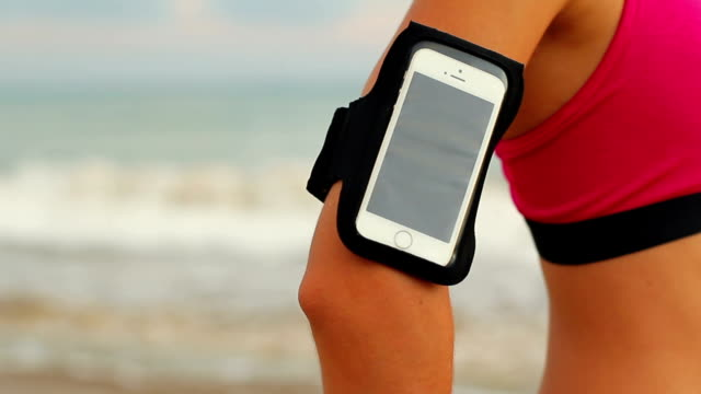 Close Up Smartphone Fitness Arm Band video