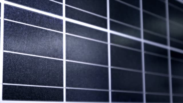 Close up to a Solar panel video
