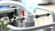 close up : vibrate liquid nitrogen tank video