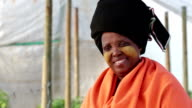 Close up Video Portrait Traditional African Xhosa Woman video
