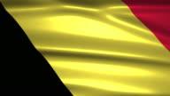 close up waving flag of Belgium,loopable video