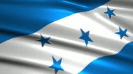 close up waving flag of Honduras,loopable video