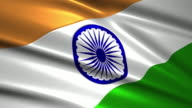 close up waving flag of India,loopable video