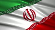 close up waving flag of Iran,loopable video