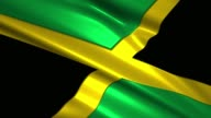 close up waving flag of Jamaica,loopable video