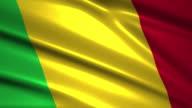 close up waving flag of Mali,loopable video
