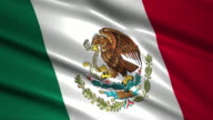 close up waving flag of Mexico,loopable video
