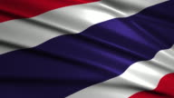 close up waving flag of Thailand,loopable video