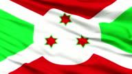 Close Up Waving National Flag of Burundi video