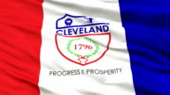 Close Up Waving National Flag of Cleveland City video