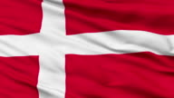 Close Up Waving National Flag of Denmark video