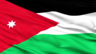 Close Up Waving National Flag of Jordan video