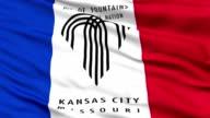 Close Up Waving National Flag of Kansas City video
