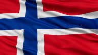 Close Up Waving National Flag of Norway video