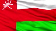 Close Up Waving National Flag of Oman video
