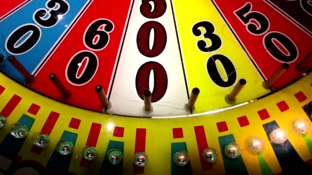Close up wheel of fortune game video