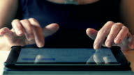 Close Up Woman Typing On Touchpad Sitting at the Table video