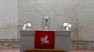 Closer look of the altar in the church in Estonia  FS700 Odyssey 7Q video