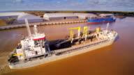 Closer look of the big ship in Parnu coast video