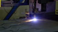 Closer look of the plasma cutter on the factory video