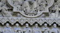 Closer look of the sculptures of the Westminster Abbey church video