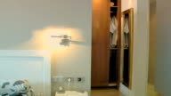 Closet with automatic door video
