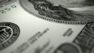 Close-up Animation Of 100 Dollars Bill video