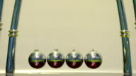 Close-Up Chrome Pendulum Newton video