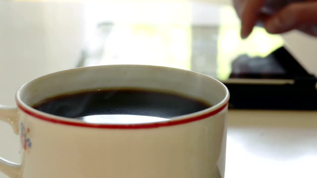 Close-up Cup of coffee video