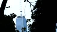 A closeup, establishing shot of New York City's World Trade Center. video